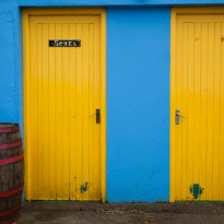 Colorful toilet doors in the Burren. Ruben Vicente